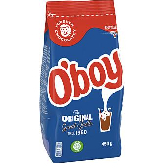 NYE TIDER: Den nye endringen trer i kraft fra februar. Da vil O'boy-forpakningen se slik ut.