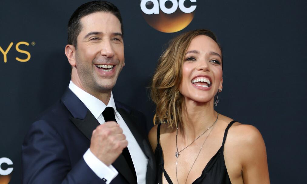 BRUDD: Skuespiller David Schwimmer og ekskona Zoe Buckman endte ekteskapet sitt i 2017. Nå snakker han om skilsmissen. Foto: NTB scanpix