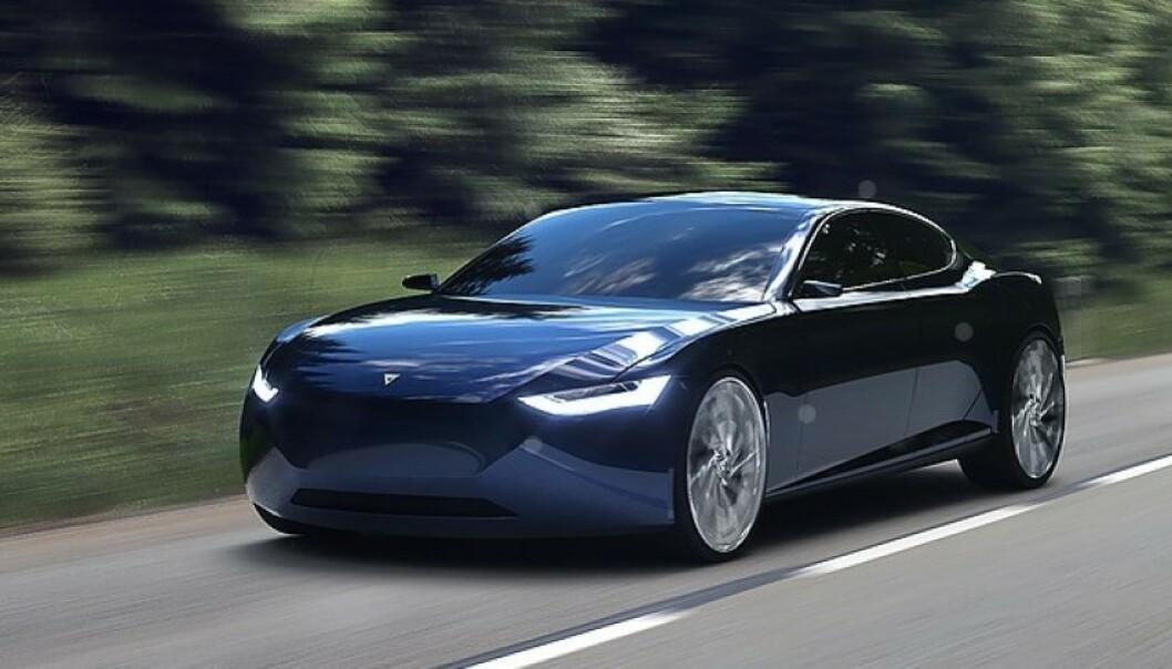 SEDAN: Fresco Reverie er utformet som en sedan, mens storparten av markedet ønsker SUV. Foto: Fresco Motors