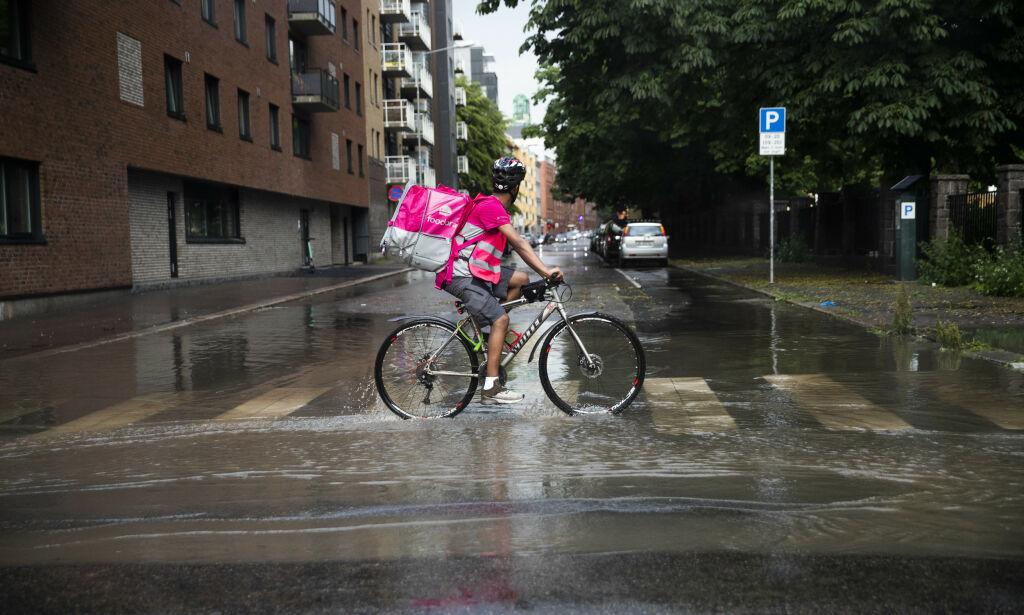 image: Foodora-syklister bekymret etter bilbruk
