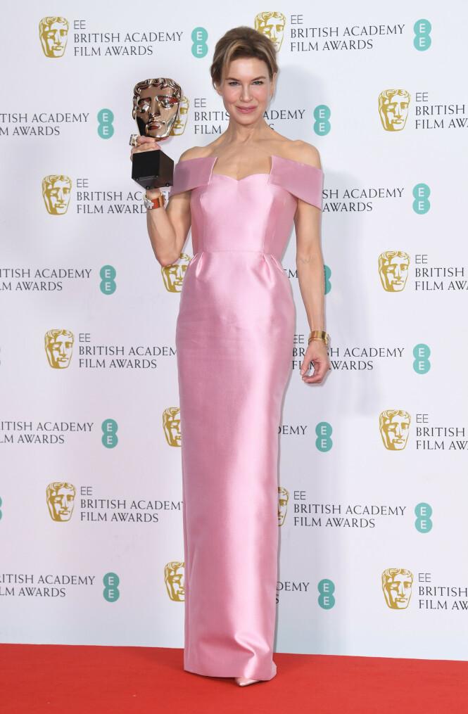BAFTA: Renée Zellweger. Foto: NTB Scanpix
