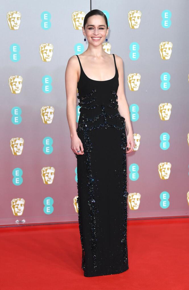 BAFTA: Emilia Clarke. Foto: NTB Scanpix