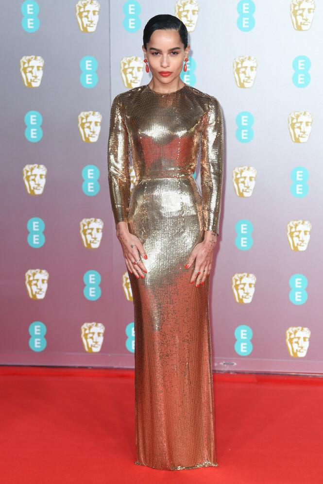 BAFTA: Zoe Kravitz. Foto: NTB Scanpix