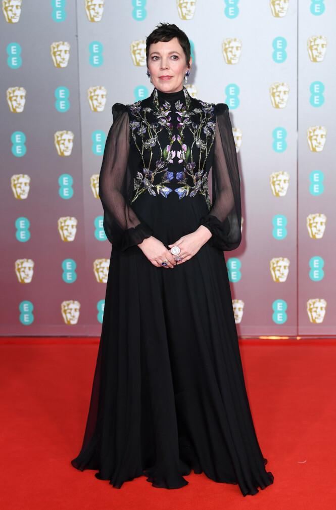 BAFTA: Olivia Colman. Foto: NTB Scanpix