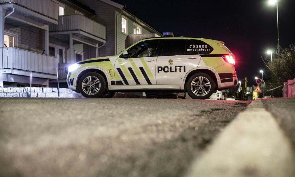 En mann i 40-årene er pågrepet og siktet for å ha drept en kvinne i 30-årene. Kvinnen ble funnet død i en leilighet nær Sandefjord sentrum. Foto: Trond Reidar Teigen / NTB scanpix