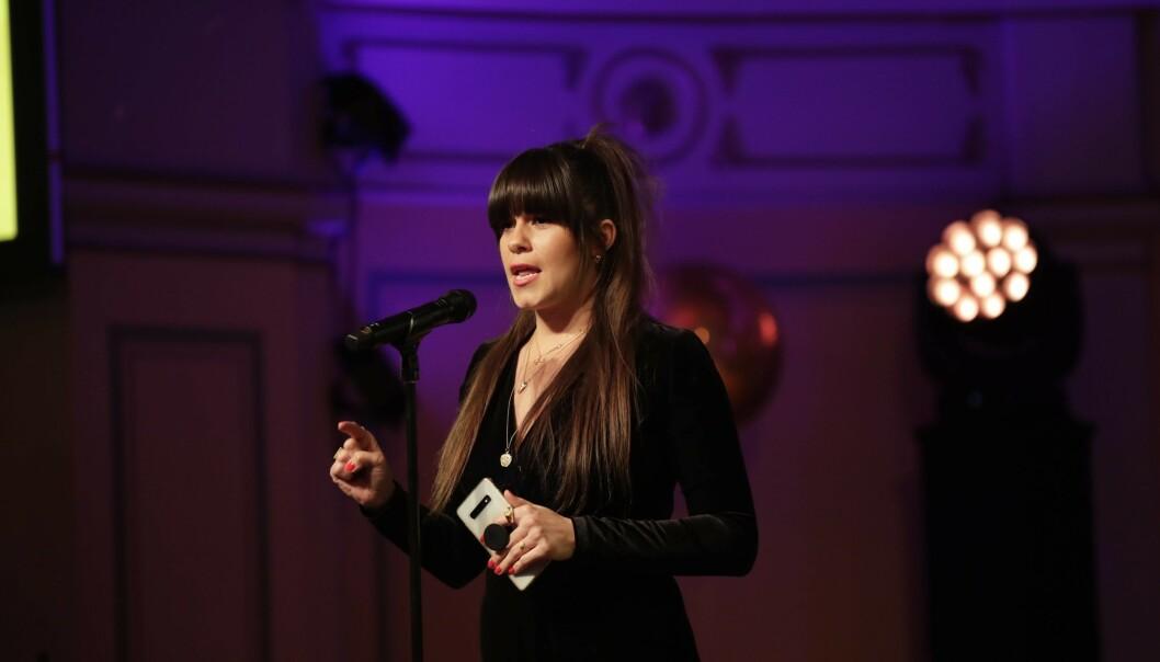 SVARER PÅ KRITIKKEN: Både under talen og i etterkant av prisutdelingen under Vixen Awards raste toppblogger Kristin Gjelsvik mot TV 2. Nå svarer nyhetskanalen på kritikken. Foto: NTB Scanpix