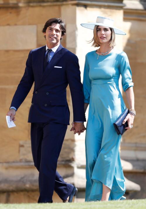 VENNER AV HERTUGPARET: Nacho Figueras og kona Delfina Blaquier var begge til stede da prins Harry og hertuginne Meghan giftet seg. Foto: NTB Scanpix