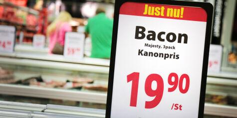 image: Baconmangel i svenske matbutikker