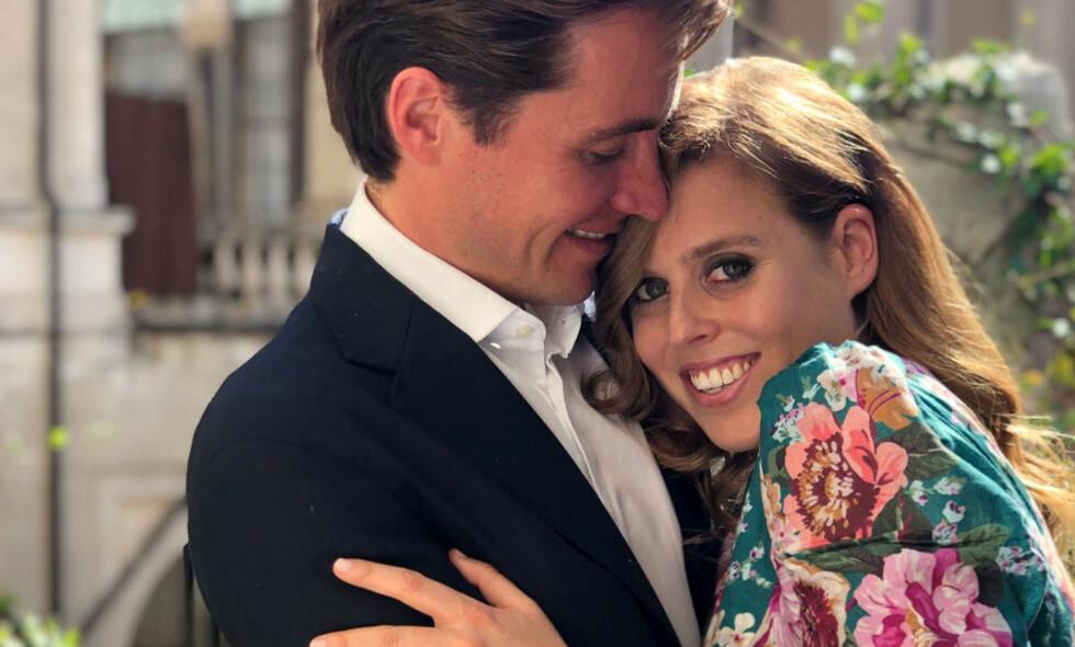 BRYLLUP: Prinsesse Beatrice og Edoardo Mapelli Mozzi gifter seg i mai. Foto: NTB Scanpix