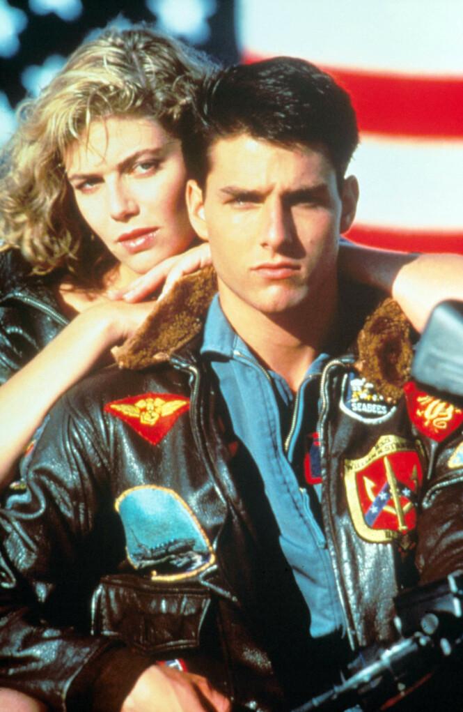 IKONISK PAR: Tom Cruise og Kelly McGillis i Top Gun fra 1986. Foto: NTB Scanpix