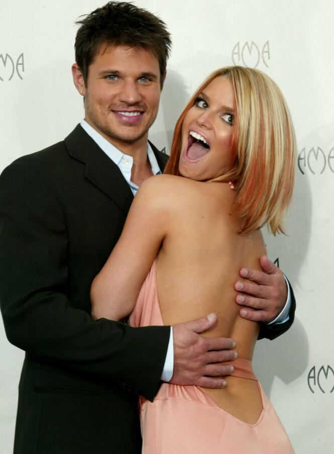 INGEN EKTEPAKT: I 2002 giftet Jessica Simpson og Nick Lachey seg. Ekteskapet varte fram til vinteren 2005, da Simpson søkte om skilsmisse. Foto: NTB scanpix
