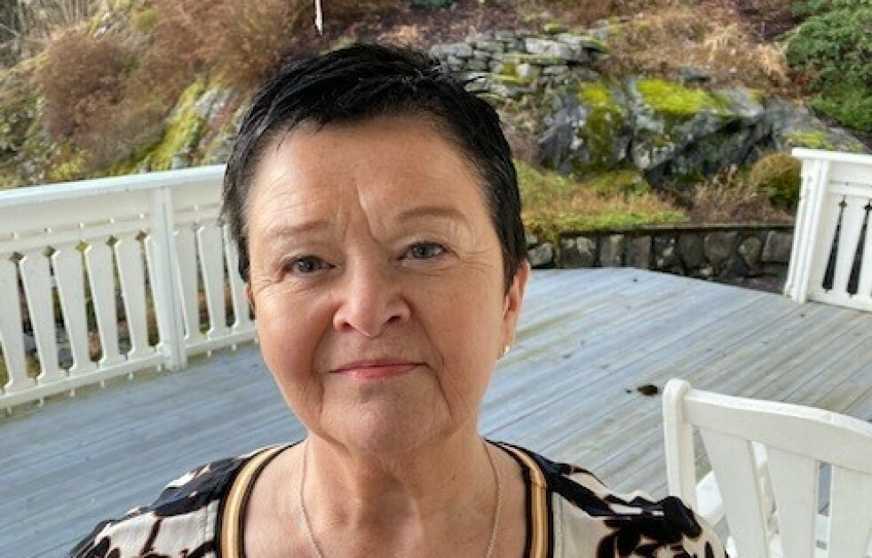 HEKTA PÅ FOND: - Menn har jo mye mer i aksjer og fond enn kvinner har. Jeg snakker varmt om fond til venninner, sier Rita Myklebust (57). Foto: Privat