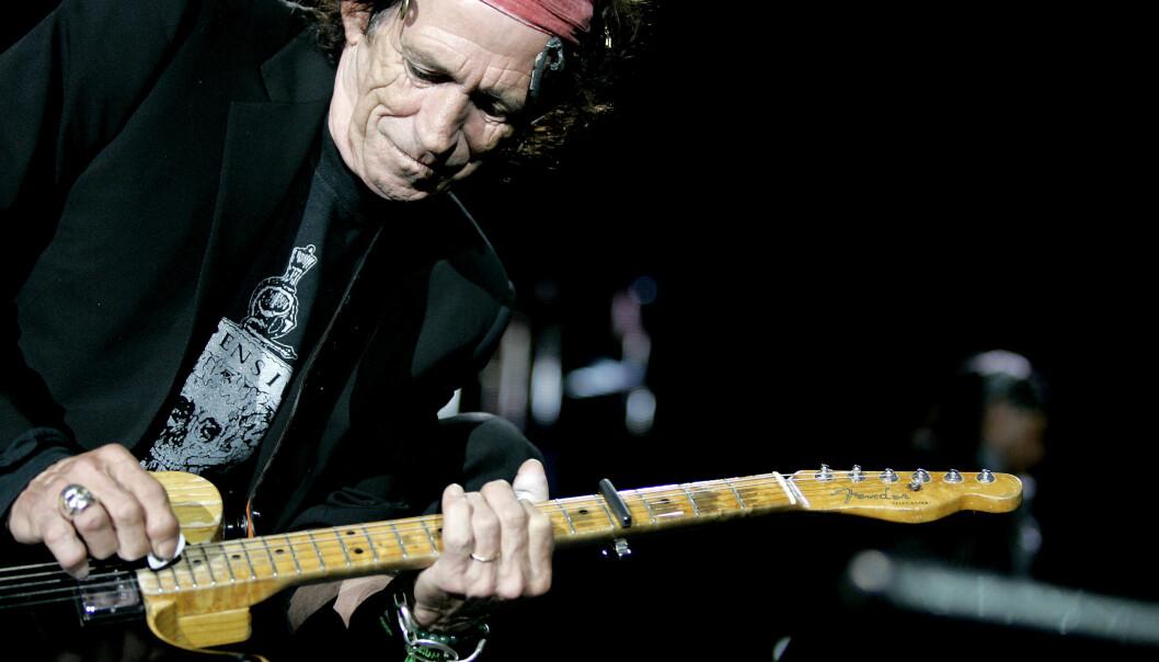 Keith Richards i Rolling Stones, her på scenen i Bergen for noen år tilbake. Foto: Sara Johannessen / SCANPIX.