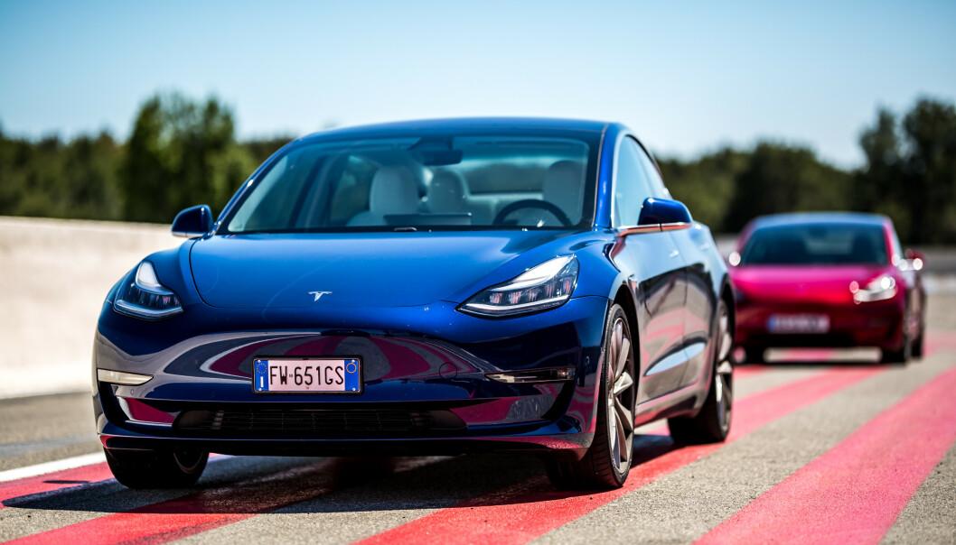 TESLA MODEL 3: Model 3 ble årets mest solgte bil i 2019. Foto: Fred Magne Skillebæk