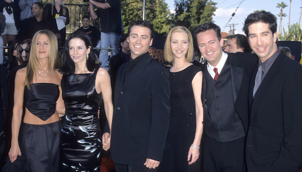 DEN GANG DA: Verdens mest populære vennegjeng samlet under SAG Awards i 1999. FOTO: Scanpix