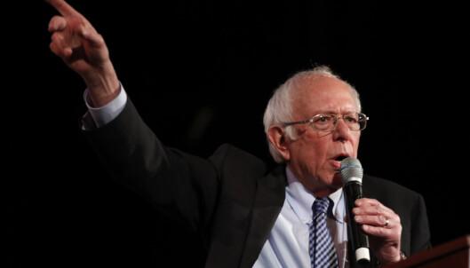 Bernie Sanders leder på meningsmålingene i New Hampshire, men Pete Buttigieg puster ham i nakken. Foto: AP / NTB scanpix
