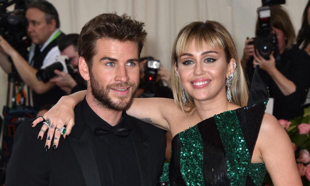 <strong>SKILLER SEG:</strong> Liam Hemsworth og Miley Cyrus har begge gått videre etter at de kunngjorde at de skulle skilles i sommer. Foto: NTB Scanpix