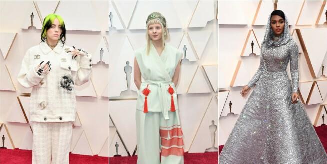 Strålte i hjemmelaget Oscar-antrekk