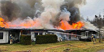 image: Seks leiligheter totalskadd i brann