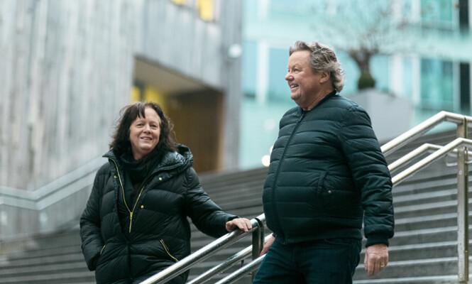 BEHOLDT VENNSKAPET: Til tross for skilsmisse har Torill og Geir Fossen beholdt vennskapet - og har delt på ansvaret for sin syke datter. FOTO: Astrid Waller
