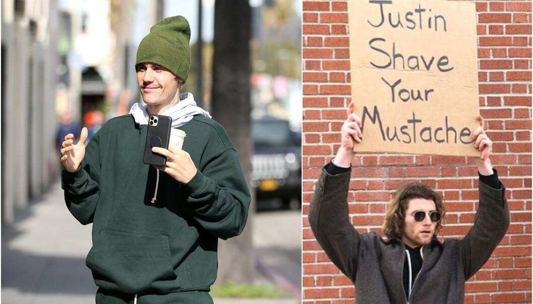 <strong>VEKKER OPPSIKT:</strong> Justin Bieber har den siste tiden fått stor oppmerksomhet for barten sin. Nå har han imidlertid svart kritikerne, og det tok ikke lang tid før superstjernens svar gikk viralt. Foto: NTB scanpix