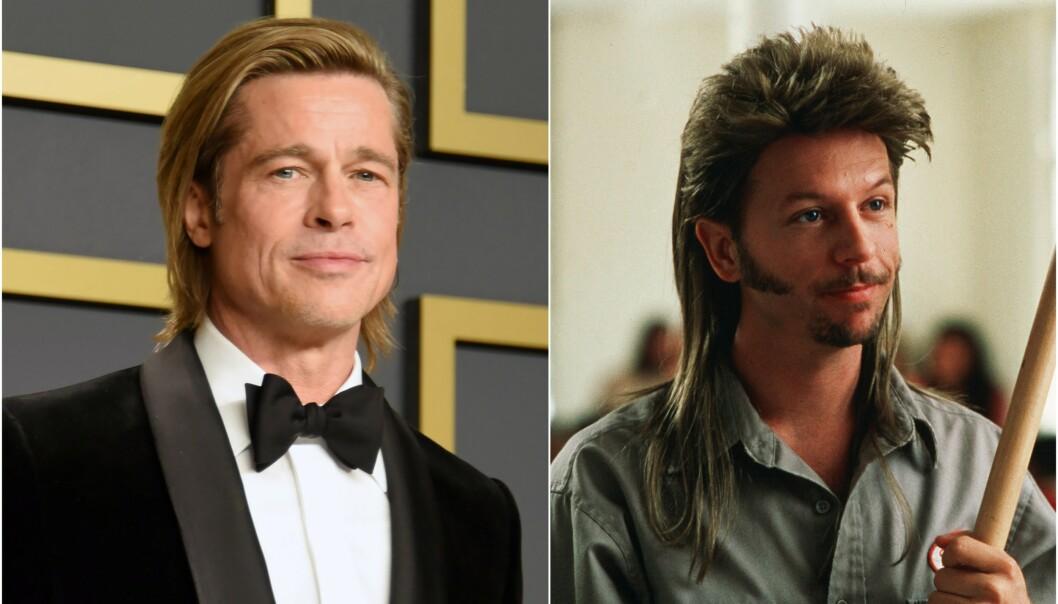 <strong>SAMMENLIGNES:</strong> En fan sammenligner Brad Pitts sveis med filmkarakteren Joe Dirt. Foto: NTB scanpix