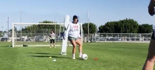 Fotballstjerna Alex Morgan vekker oppsikt