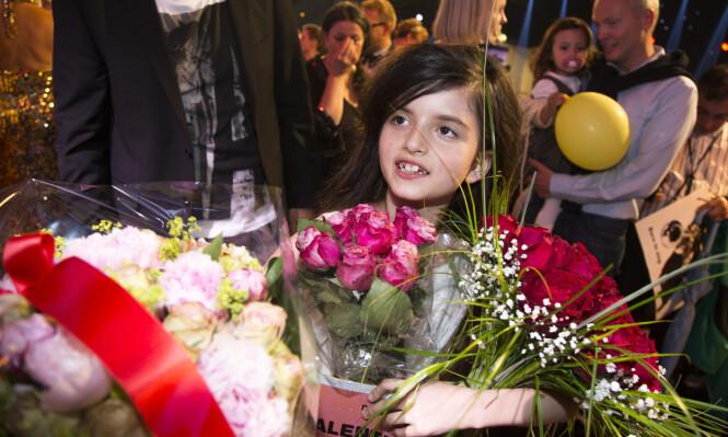<strong>SEIER:</strong> Angelina Jordan var bare åtte år gammel da hun vant det norske talentprogrammet. Under første de første auditionrunde var hun sju. Foto: NTB Scanpix