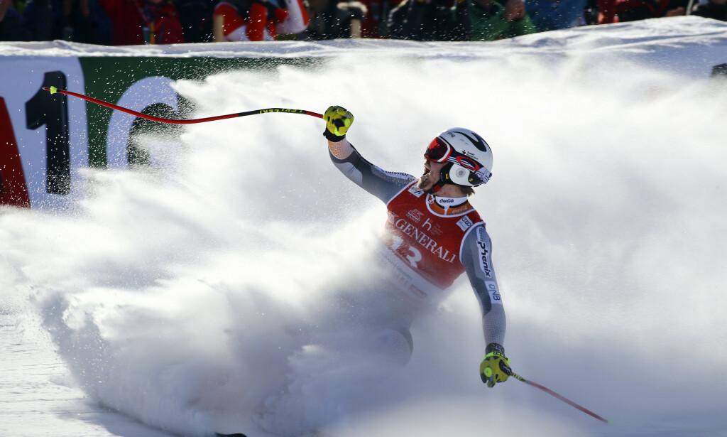 Aleksander Aamodt Kilde er for alvor med i kampen om sammenlagtseieren i den alpine verdenscupen. Foto: Marco Trovati / AP / NTB scanpix.