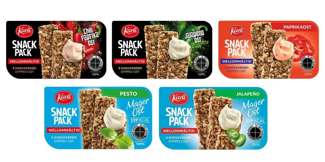 <strong>BAKTERIEFUNN:</strong> Kavli tilbakekaller alle varianter av Snack Pack, etter bakteriefunn. Foto: Kavli