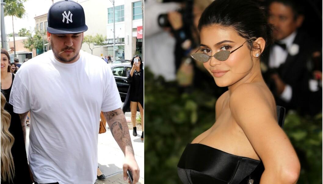 SLITER: Rob Kardashian skal visstnok få hjelp av lillesøster Kylie Jenner for å komme seg gjennom økonomisk knipe. Foto: NTB scanpix