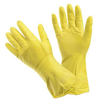 KJEKT Å HA: Praktiske latexhansker som passer utmerket til oppvask, rengjøring, bilvask etc.