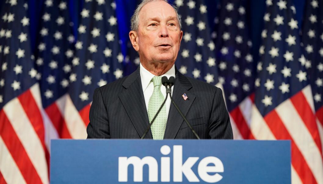 <strong>KANDIDAT:</strong> Demokraten Michael Bloomberg kungjorde sitt kandidatur som Demokratenes presidentkandidat 25. november i fjor. Foto: Joshua Roberts   / Reuters / NTB Scanpix