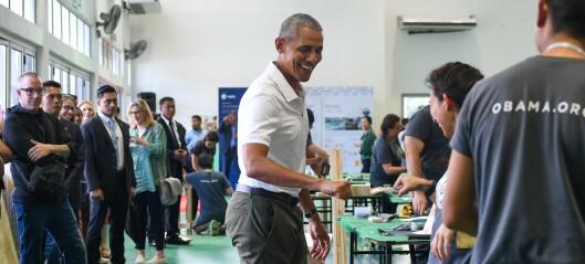 Dette bildet av Obama setter fyr på nettet