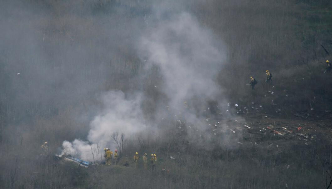 <strong>KRASJET:</strong> Brannmenn fra LA County på krasjstedet hvor Kobe Bryants helikopter gikk ned. Foto: REUTERS/ Gene Blevins/ NTB scanpix