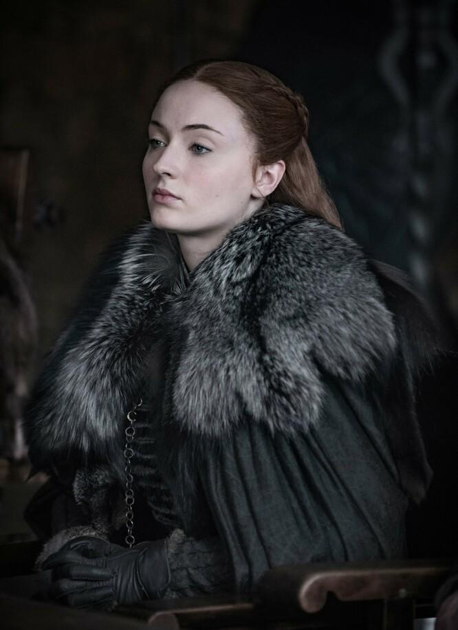 SANSA STARK: Sophie Turner gjorde stor suksess i rollen som Sansa Stark i Game of Thrones. Foto: NTB Scanpix
