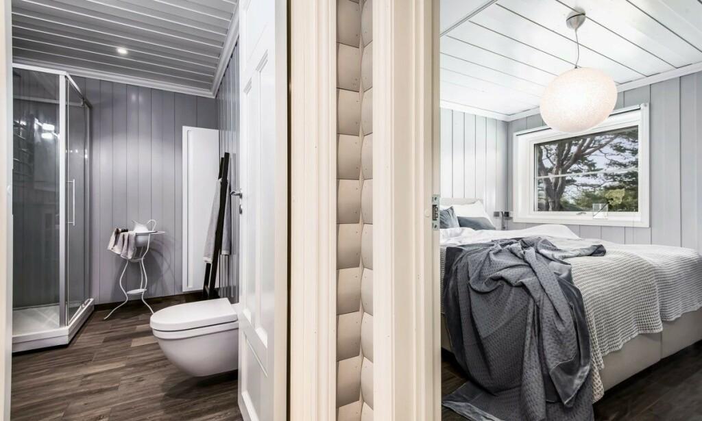 RENOVERT: Eiendommen inkluderer blant annet to hytter og gjestehus med totalt åtte soverom. Foto: Inviso