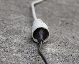 image: Skjøteledningen kan smelte ved feil bruk