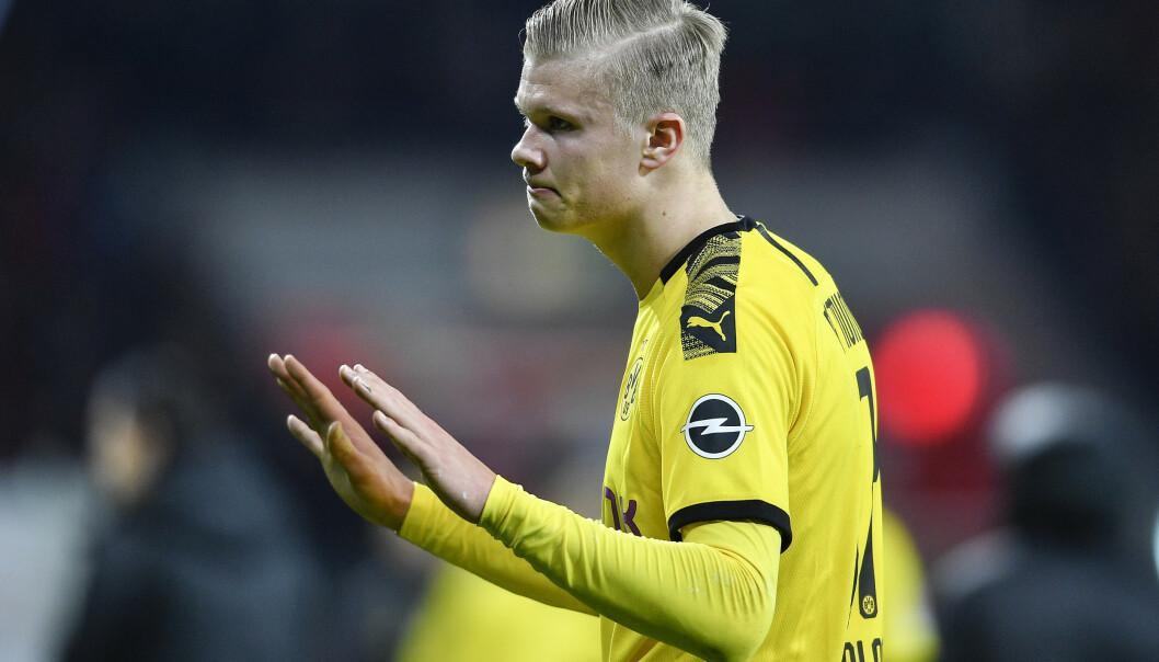 Erling Braut Haaland synes ryktene om Manchester United og griskhet er komiske. Foto: Martin Meissner / AP / NTB scanpix