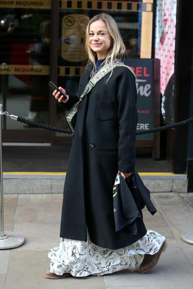 <strong>ELEGANT:</strong> Amelia Windsor fotografert under moteuken i London i fjor. Foto: NTB Scanpix