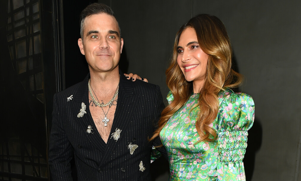 <strong>FIKK EN SØNN:</strong> Robbie Williams og Ayda Field har blitt foreldre for fjerde gang. Foto: NTB Scanpix