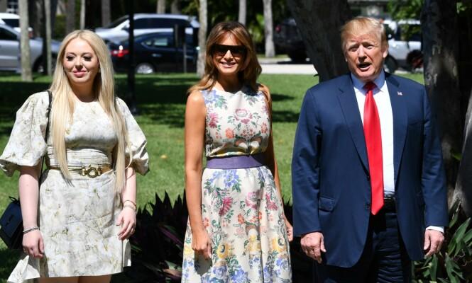 <strong>DRAMA:</strong> Presidentens assistent hevdet at hun kjente Trumps barn bedre enn han. Da svarte Donald med å proklamere til verden at han elsket dattera si. Foto: NTB scanpix
