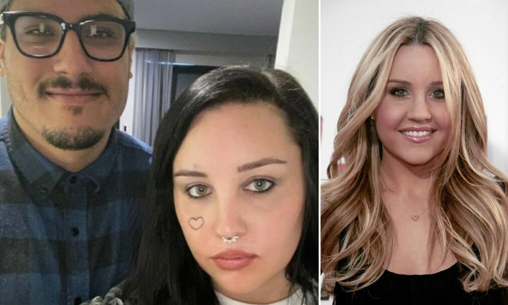 FORLOVET: Amanda Bynes røper forlovelse i sosiale medier. Foto: Instagram / NTB Scanpix