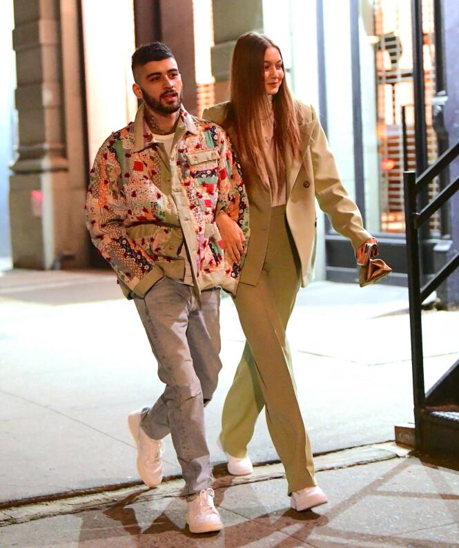 2020: Romanseryktene mellom Gigi Hadid og Zayn Malik fikk raskt fart på seg etter at de i midten av januar ble observert sammen i New York. Foto: NTB Scanpix