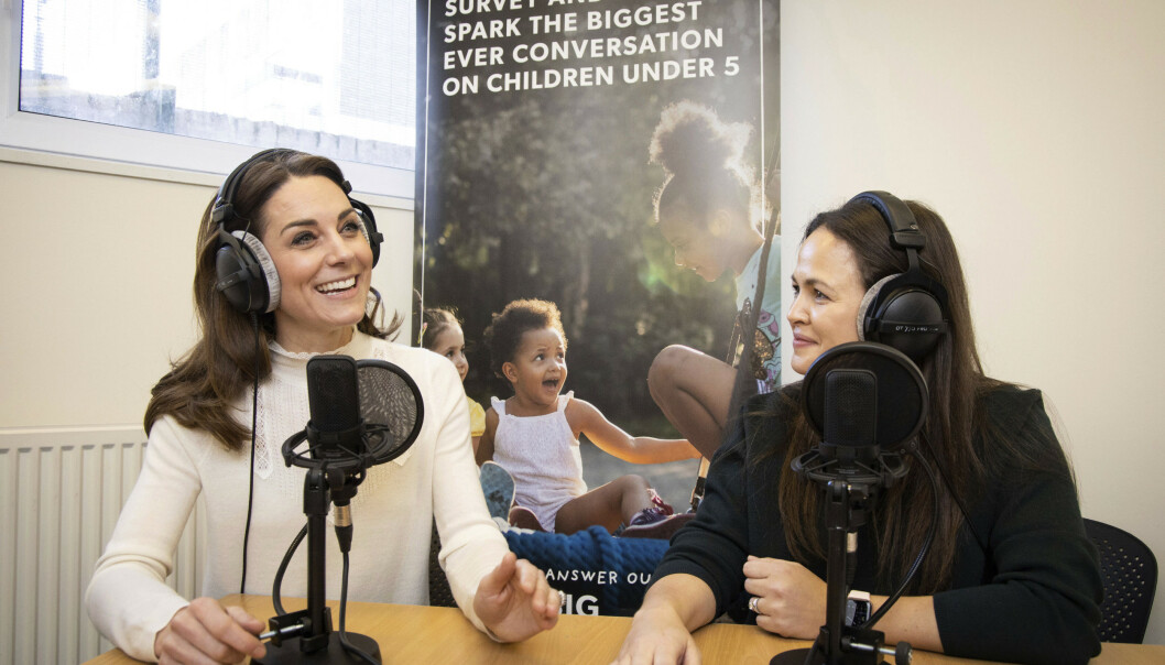 SNAKKER UT: Hertuginne Kate snakket ut om fødselsopplevelsen sin da hun gjestet podkasten «Happy Mum Happy Baby». Foto: NTB scanpix