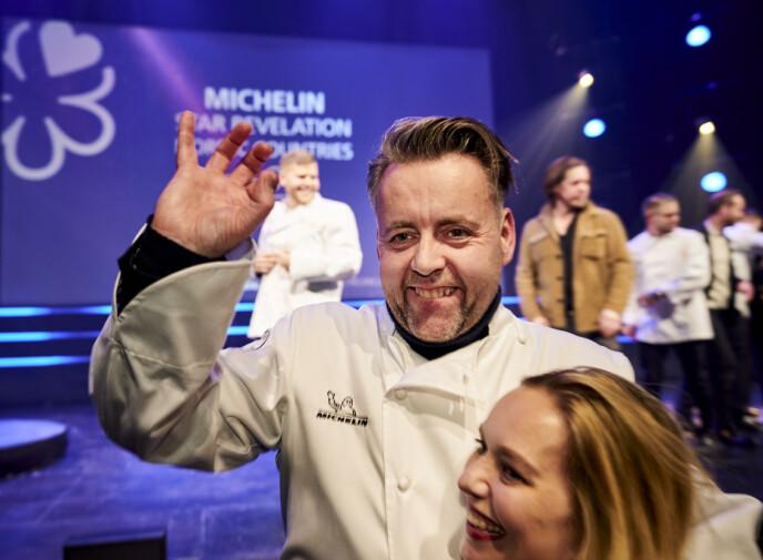 <strong>JUBEL:</strong> Sven Erik og kona Torill Renaa driver Michelin-restauranten i Stavanger sammen. Foto: Ole Martin Wold / NTB Scanpix