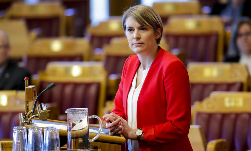 GRØNN KRISEPAKKE: Kari Elisabeth Kaski og SV krever at regjeringen kommer på banen med en grønn krisepakke. Foto: Vidar Ruud / NTB scanpix