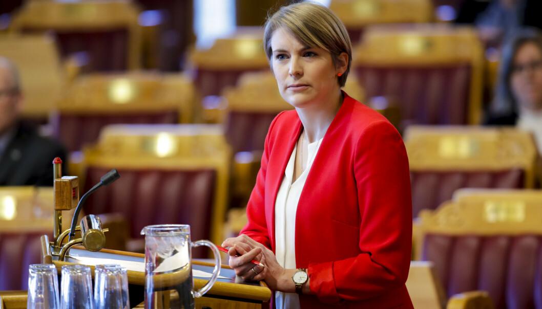 <strong>GRØNN KRISEPAKKE:</strong> Kari Elisabeth Kaski og SV krever at regjeringen kommer på banen med en grønn krisepakke. Foto: Vidar Ruud / NTB scanpix