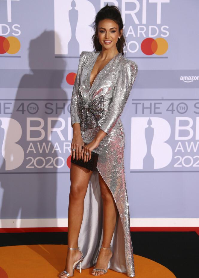 MICHELLE KEEGAN: Skuespilleren så vakker ut i en paljettkjole i sølv. Foto: NTB scanpix