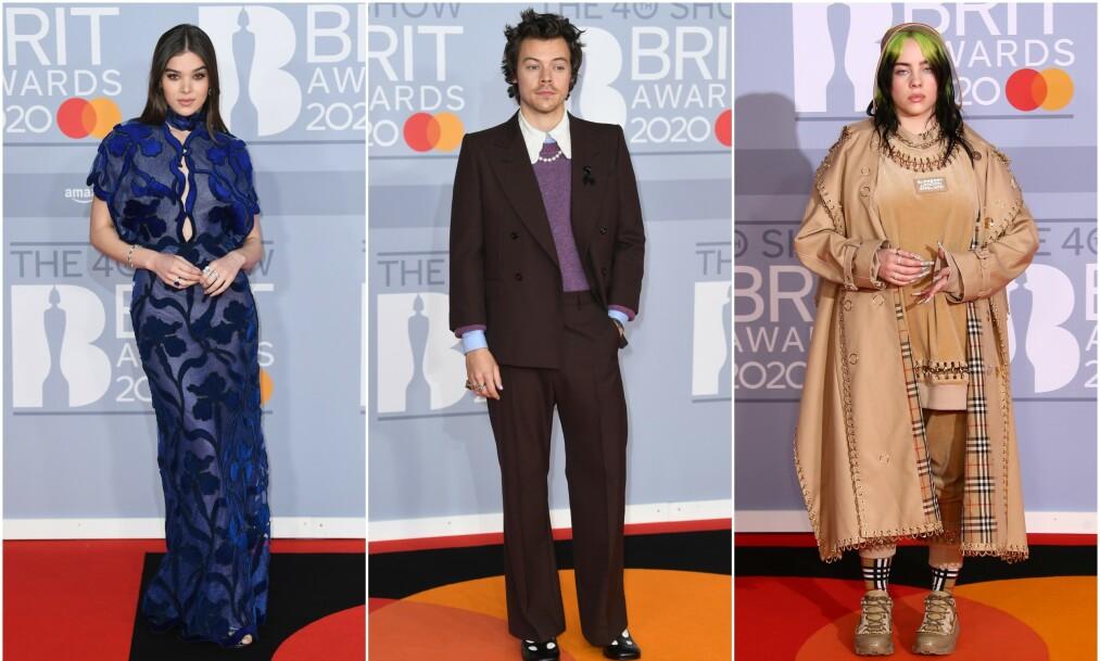 BRIT AWARDS: Tirsdag kveld var det duket for årets BRIT Awards i London, med stjerner som Hailee Steinfeld, Harry Styles og Billie Eilish. Foto: NTB scanpix